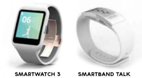 ソニーモバイルから「SmartWatch3」と「SmartBand Talk」が出てくるかもという噂。