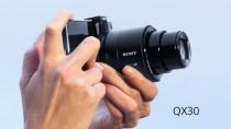 光学30倍(24mm~720mm)の広角から超望遠までの撮影ができるレンズスタイルカメラ「DSC-QX30」