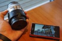 レンズスタイルカメラQX1とレンズを持って出かけて撮影してみたよ。