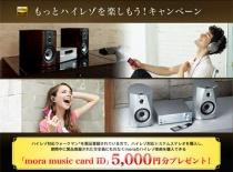 ハイレゾ対応ウォークマンとコンポを買うと5,000円分のmoraチケットがもらえるキャンペーン!