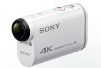 4K撮影に対応したアクションカム「FDR-X1000V」、小型軽量化して空間手ぶれ補正やプロジェクターを搭載した4Kハンディカム「FDR-AXP33」。
