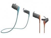 バッテリーの持続時間は約8.5時間、軽量防滴タイプのワイヤレスステレオヘッドセット「MDR-AS600BT」