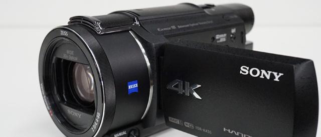4Kハンディカム「FDR-AX55 / AX40」に、三脚使用でのパン/チルト操作時の画像の安定性を向上するためのソフトウェアアップデート。
