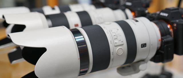 ソニーストアで、G Master 望遠ズームレンズ「SEL70200GM」やテレコンバーター「SEL20TC」をカメラに装着して、Aマウントレンズといろいろ比べてみた。