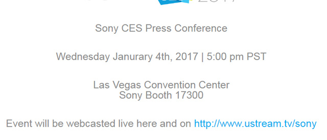 今年も開幕「Sony CES 2017」。ソニーのプレスカンファレンスは日本時間1月5日(木)午前10時から。