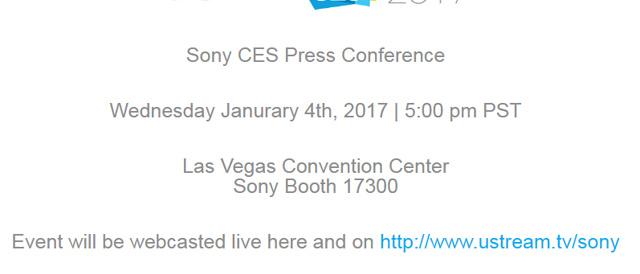 「Sony CES 2017」ソニープレスカンファレンスを日本時間の1月5日(木)午前10時から開始。