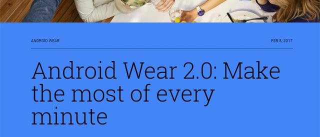 Google、「Android Wear 2.0」をリリース。残念ながらアップデート対象に「SmartWatch 3」ない様子。