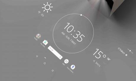 投写したスクリーンに触れて操作できる「Xperia Touch」、外の音を聞こえながらボイスコミュニケーションできる「Xperia Ear Open-style」