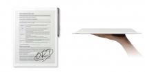 紙のように読んだり書いたりできるデジタルペーパー「DPT-RP1」、ソニーストアで先行予約販売を開始。