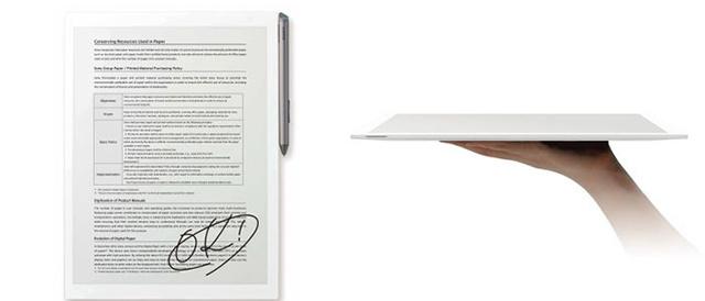 """紙のように読んだり書いたりできるデジタルペーパーに、高解像度と高速レスポンス、軽く薄くなってさらに""""紙""""に近づいた新モデル「DPT-RP1」登場。"""