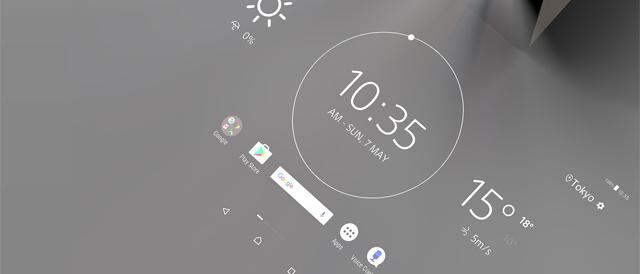 投写したスクリーンに触れて操作できるAndroid OSを備えたスマートプロダクト「Xperia Touch」、6月24日発売。