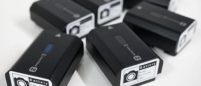 たくさん増えたバッテリーにはナンバー付きのラベルシールを貼るととっても管理しやすくなるよ。