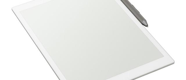紙のように読んだり書いたりできるデジタルペーパーに、A5サイズに小型化して持ち運びしやすくなったモデル「DPT-CP1」登場。