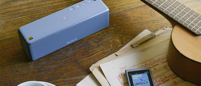 ハイレゾ音源対応の高音質と、Wi-Fi接続でネットワーク経由や音楽配信サービスなども楽しめるワイヤレスポータブルスピーカーh.ear go 2 「SRS-HG10」。