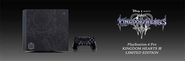 「PlayStation®4 Pro KINGDOM HEARTS III LIMITED EDITION」を数量限定で2019年1月25日発売。6月12日より予約開始。