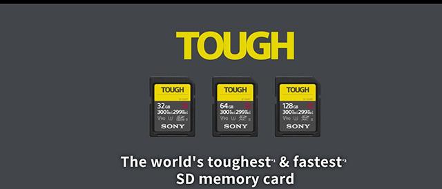 海外で、超堅牢&防水防塵性能と高速性能をかねそなえたソニーのタフネス SDカード「SF-G TOUGH」が発表に。
