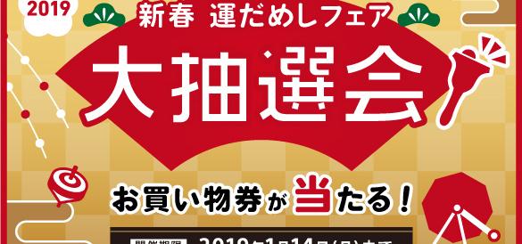 ソニーストア直営店の年始めの営業は1月2日から。「新春 運だめしフェア 大抽選会」を開催。