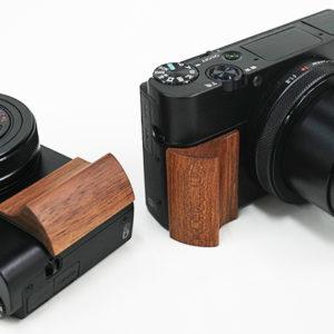 RX100シリーズを愛でるためのアイテム(その1)ULYSSES製「RX100シリーズ用ウッドグリップ」
