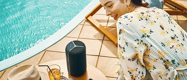 重低音と臨場感を楽しめる、防水・防塵・防錆対応にプラスしてGoogle アシスタントやAmazon Alexaに対応したワイヤレスポータブルスピーカー「SRS-XB402G / XB402M」