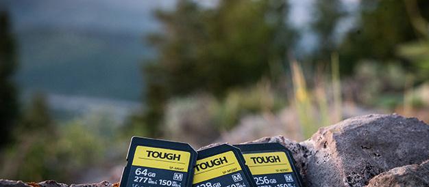 超堅牢・防水・防塵性能と高速性能をかねそなえたソニーのタフネス SDカード「SF-M TOUGH」シリーズ12月7日発売。大容量256GBをラインナップ。