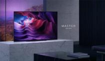 有機ELフラッグシップモデル MASTER Series に48型サイズの「BRAVIA A9Sシリーズ」登場。横幅106.9cmの省スペースで、限られたスペースにも有機ELテレビを導入できる。