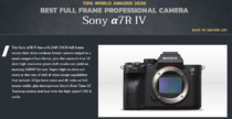 「TIPAアワード 2020」、デジタル一眼カメラα7R IV/ α6600、デジタルスチルカメラ「DSC-RX100M7」と「リアルタイムトラッキング」機能それぞれが最優秀賞を受賞。
