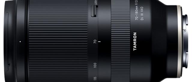 株式会社タムロンから、ソニーのデジタル一眼カメラ Eマウント対応 大口径望遠ズームレンズ 「70-180mm F/2.8 Di III VXD (Model A056)」を2020年5月14日に発売。