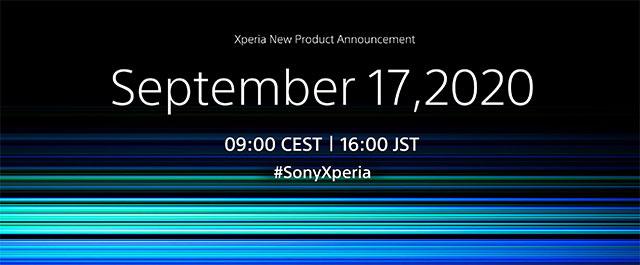ソニー、You Tubeの公式チャンネルとFacebookで2020年9月17日(木)16:00(日本時間)にXperia新商品発表予定の告知。リーク情報のとおりXperia 5 II が登場?気になるサイドに増えた物理ボタン。