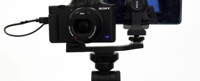 デジタルカメラ「VLOGCAM ZV-1」の映像と音声をライブ配信で活かせるアップデート!スマホとつないで、屋外の配信クオリティーが大幅に上がる、しかも最小構成。