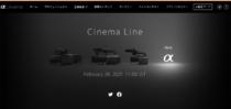 "Cinema Lineの新モデル Eマウント採用のNEW α のティーザー広告。日本時間 2021年2月24日11時に発表。""New Cinema Line camera announcement"""