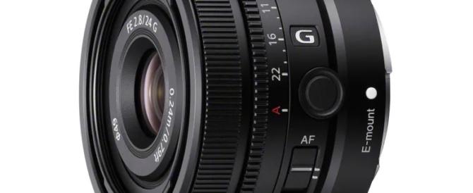 フルサイズEマウントレンズ FE 24mm F2.8 G 「SEL24F28G」を4月23日に発売。市場想定価格79,000円前後(税込)、ソニーストア先行予約は3月30日(火)10時から。