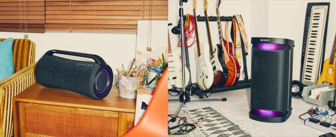 屋内外で高音質かつパワフルな重低音を楽しめるワイヤレスポータブルスピーカー「SRS-XG500 / SRS-XP500」、5色のカラバリの小型ワイヤレススピーカー「SRS-XB13」をそれぞ5月28日発売。
