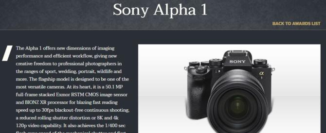 「TIPA WORLD AWARDS 2021」の各部門賞を発表。デジタル一眼カメラα1 / α7SIII / 、VLOGCAM「ZV-1」、FE 50 mm F1.2 GM SEL50F12GM、Xperia 1 IIIそれぞれが最優秀賞を受賞。