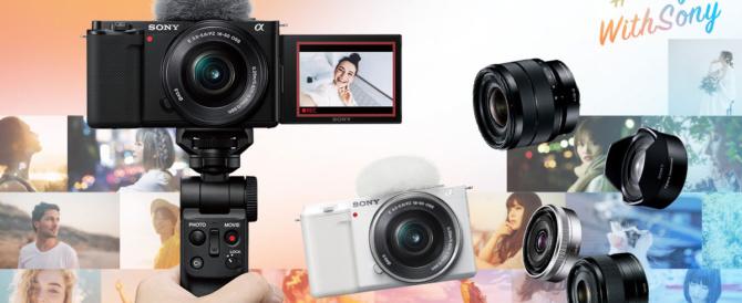 レンズ交換式のVlogカメラ「VLOGCAM ZV-E10」登場。「VLOGCAM ZV-1」のかんたん便利機能を踏襲したαシリーズEマウントモデル。
