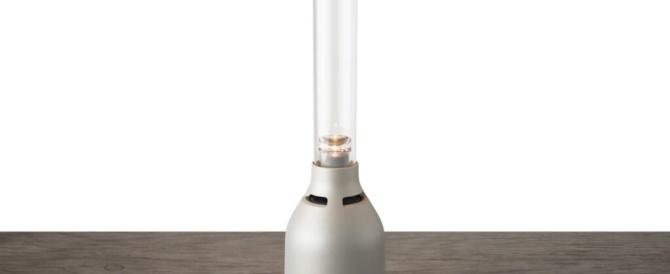 360度に音が広がる有機ガラス管のグラスサウンドスピーカーの新型「LSPX-S3」海外ソニー公式で発表。