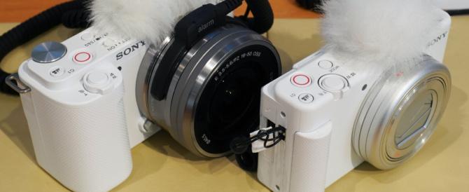 「VLOGCAM ZV-E10」を、ソニーストアで触ってきたレビュー(その1)。APS-Cイメージセンサー搭載の一眼カメラαシリーズがコンパクトなVLOGCAMに変身。
