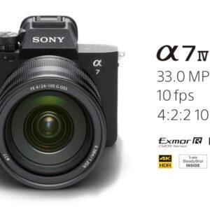 海外で、フルサイズミラーレス一眼カメラ α7 IV ( ILCE-7M4 )を発表! 3,300万画素フルサイズセンサーに画像処理エンジン「BIONZ XR」を搭載、4K60p 記録というスチル撮影と動画撮影の欲しかった高いラインを超えたカメラ。